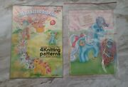 Vintage 1988 My Little Pony Lace Up Sewing Cards Merch Complete + Knitting