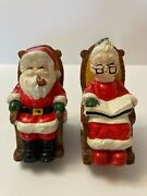 Vintage Santa And Mrs Claus In Rocking Chairs Ceramic Coin Banks-5andrdquoh Taiwan