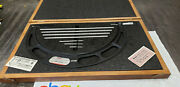 Starrett 224m 300-400mm Outside Micrometer Set With Standards In Case. Lot6