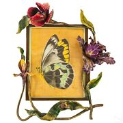 Jay Strongwater Orchids And Bee Large Picture Frame