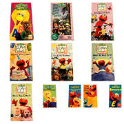 Lot Of 11 Sesame Street Vhs Video Tapes Elmos World Sing Alongs Elmocize And More