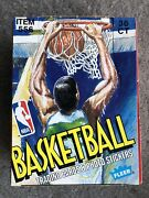1989 - 90 Fleer Nba Basketball 36 Wax Packs 1 Box From A Sealed Case