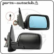For 2000-06 Bmw X5 Series E53 Leftandright Mirrors Black Memory Power Heated