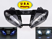 For Yamaha Motorcycle Front Headlight Assembled Blue Demon Angel Eye Hid Usa