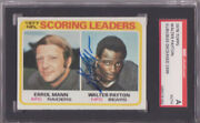 Walter Payton Signed 1978 Topps Rookie Card -nfl Scoring Leaders🔥sgc Authentic