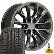 17 Gunmetal 5891 Rims And 255/65r17 Tire Set Fits Canyon And Colorado Zr2