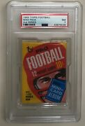 1969 Topps Nfl Football Unopened 10 Cent 2nd Series Wax Pack Psa Graded Nm 7