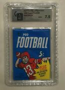 1968 Topps Nfl Football Unopened 5 Cent Wax Pack Graded 7.5 Near Mint+ By Gai