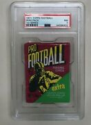 1971 Topps Nfl Football Unopened 1st Series 10 Cent Wax Pack Psa Graded Nm 7