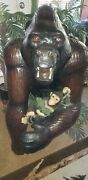 Large Leather Gorilla Display Collectible