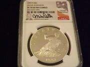 1997-s 1 Jackie Robinson Flag Label Mike Castle Ngc Pf 70 Ultra Cameo