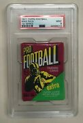 1971 Topps Nfl Football Unopened 1st Series 10 Cent Wax Pack Psa Graded Mint 9