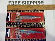 Lot Of 2 Lucky Craft Slender Pointer 97mr 3/8oz Po97mr-722 Zeb Ms Ghost Lure