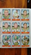 1967 Topps Football Cards Complete Set With Duplicates In Sheets With Binder