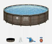 New Coleman 18ft X 48in Above Ground Swimming Pool W/ Pump Ladder And Pool Cover