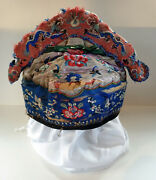 Qing Dynasty Late 19th Century Childand039s Minority Hat