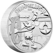 2015 100 Disney Steamboat Willie Mickey Mouse 1 Kg Silver Proof Coin Limited