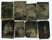 Lot Of 20 Tintypes Removed From 1870's Era Photo Albumschildren Couples Women++