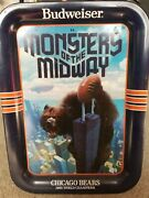 1985 World Champions Chicago Bears Budweiser Monster Of The Midway Tv Tray