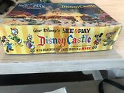 Walt Disneyandrsquos See And Play Disney Castle W/ Disneykins And Accessories By Marx 1960