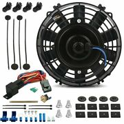 7 Inch Electric Transmission Cooler Fan 180and039f Fin Probe Thermostat Switch Kit