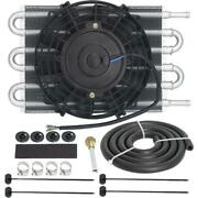 6 Row Engine Truck Van Suv Rv Trans-mission Oil Cooler 6 Inch Electric Fan Kit