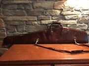 Bracken Creek Leather Rifle And Scope Case Fleece Lined American Hides New W/tags