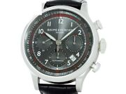 Auth Baume And Mercier Capeland Chronograph Moa10003 Ss Auto Menand039s Watche6972