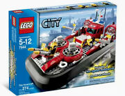 Lego Fire Hovercraft Boat City 7944 Fireman Fire Fighter🔥retired Set Sealed New
