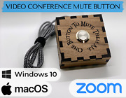 Zoom Mute Button - Lord Of The Rings Themed - Laser Cut Wood - Video Conference