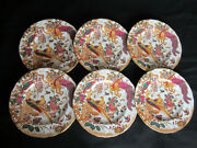 Royal Crown Derby Olde Avesbury A73 Pattern 6 X Small Dinner Plates 9 Ins.