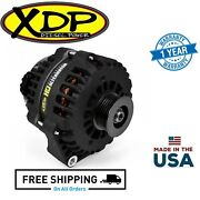 Xdp Wrinkle Black Hd High Output Alternator For 07.5-18 Dodge Ram 6.7l Cummins