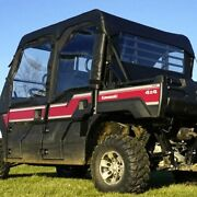 Soft Upper Doors Middle And Rear Windows For Kawasaki Mule Pro-fxt Dxt