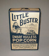 Old Antique Vtg 1920s Little Buster Dwarf Hulless Popcorn Box W/ Brownie Graphic