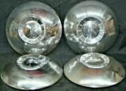 1951-1952 Kaiser Special Deluxe Hubcap Dog Dish Wheel Cover 10 Chrome Vintage