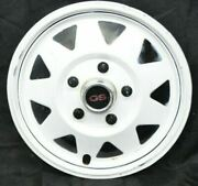 1970and039s White Gs Del-met Hubcap Trailer 15 Gm Camper Rv Mag Style Single