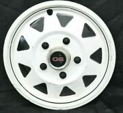 1970and039s White Gs Del-met Hubcap Trailer 14 Gm Camper Rv Mag Style Single