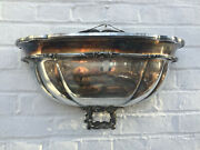 Pair Of Antique Silver Plated Wall Hanging Planters