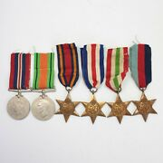 Ww2 6 Medal Group War Defence Burma Star Italy France Germany And 1939 45