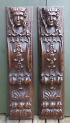 2 Nice Antique Wood Carvings With Angel Heads 19th C. Dutch. Panel