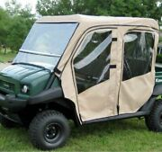 Full Cab With Folding Windshield For Kawasaki Mule 3010 Trans , 4010 Trans
