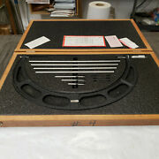 Starrett 224m 300-400mm Outside Micrometer Set With Standards In Case. Lot4