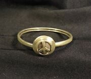 Rare Sterling Peace Sign Nestor Taxco Mexico 7and039and039 Bracelet Pre-owned