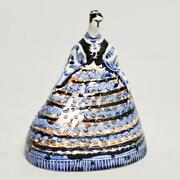 Vintage Mid Century Poland Pottery Lady Figurine Cheese Dome, Signed, 1959