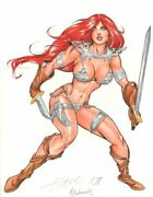 Red Sonja Color Commission - 2011 Signed Art By Nei Ruffino