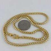 24 10k Yellow White Gold Snake Chain Necklace Smooth Two Tone 4mm 39gr R26 32