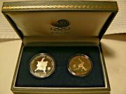 1988 Seoul Korea Summer Olympics Commemorative Silver Coins Two Coins