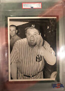 Babe Ruth Original Type 1 Photo 1943-charity Game With Ted Williams🔥psa Coa🔥