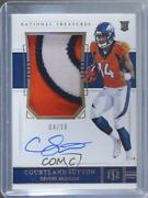 2018 National Treasures Holo Gold /10 Courtland Sutton Rpa Rookie Patch Auto
