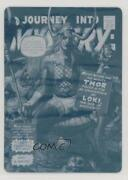 2018 Upper Deck Marvel Masterpieces What If Printing Plate Cyan 1/1 Loki X9h